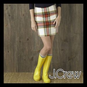 J.CREW PLAID MINI SKIRT